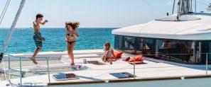 family sailing Croatia